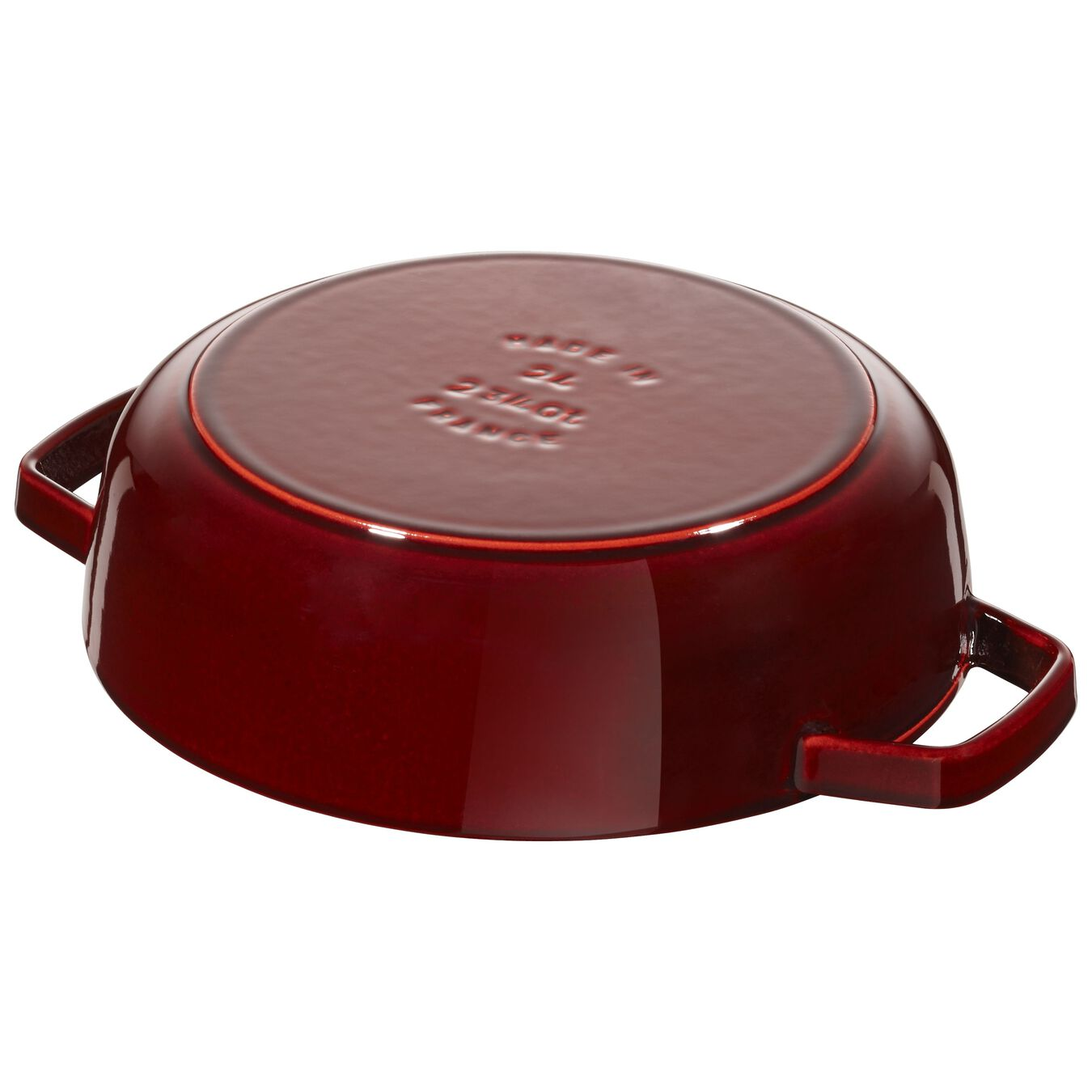 2.5 l Cast iron round Saute pan Chistera, Grenadine-Red,,large 3