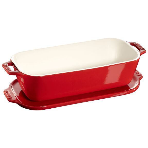 10-inch x 4.5-inch Covered Pate/Terrine Mold - Cherry,,large