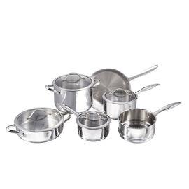 Henckels Aragon, 10 Piece 18/10 Stainless Steel Cookware set