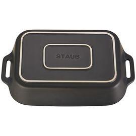 Staub Ceramics,  Ceramic Special shape bakeware, Black