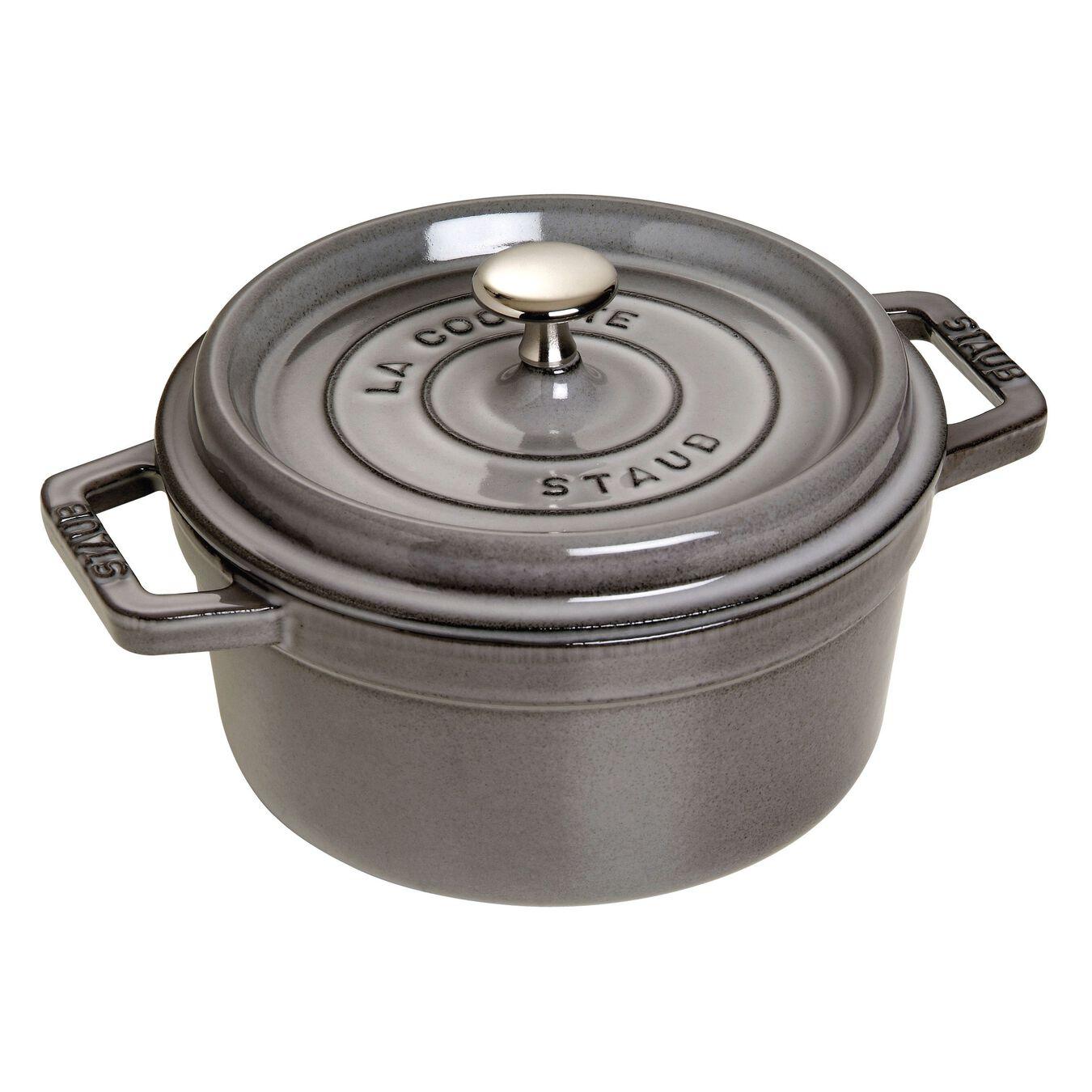 2.75 qt, round, Cocotte, graphite grey,,large 1