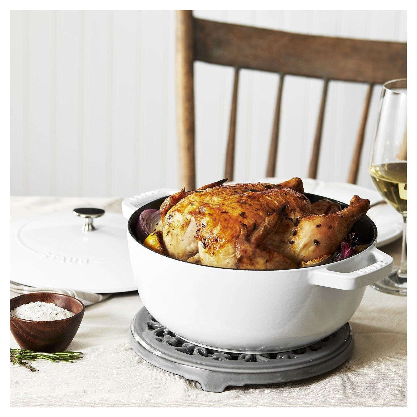 3.75 qt, Essential French Oven, white,,large 3