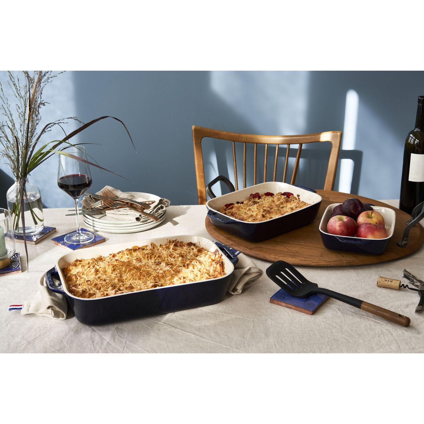 9-inch, rectangular, Baking Dish, dark blue,,large 3
