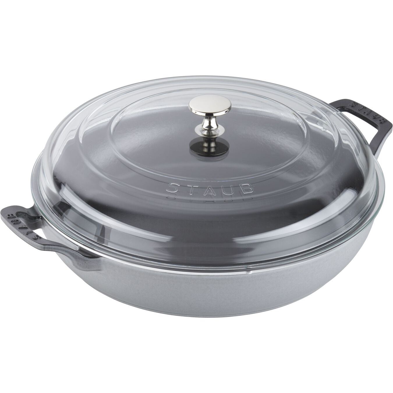 12-inch, Braiser with Glass Lid, graphite grey,,large 3