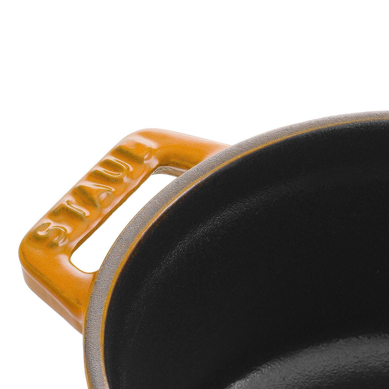 Mini Cocotte 10 cm, Rond(e), Moutarde, Fonte,,large 3
