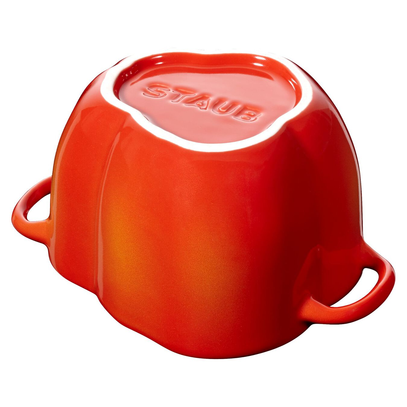 450 ml Ceramic pepper Cocotte, orange-red,,large 6