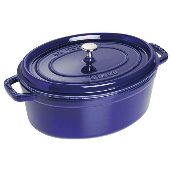 7-qt Oval Cocotte - Dark Blue,,large 2