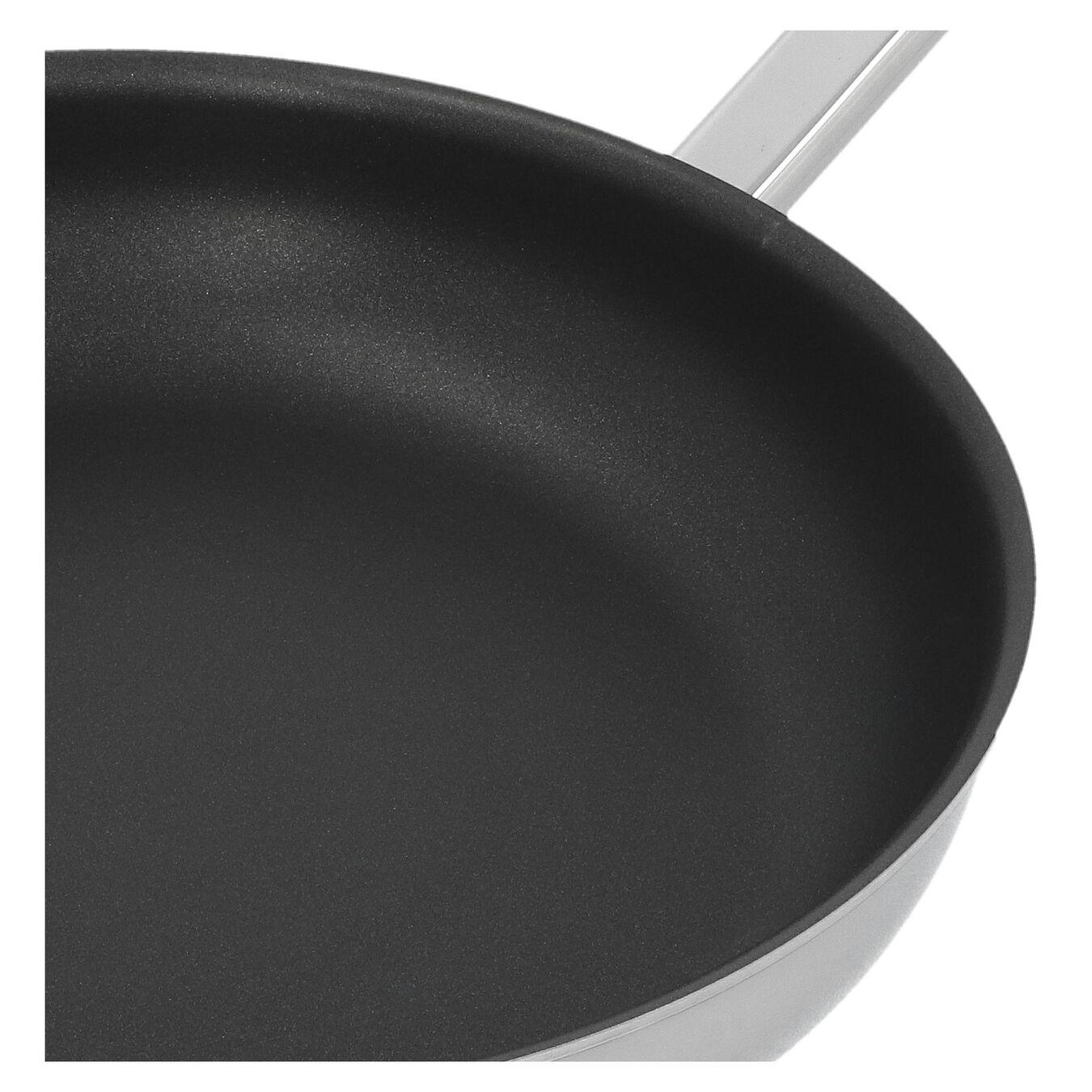 Poêle 28 cm, Inox 18/10, Noir argenté,,large 4