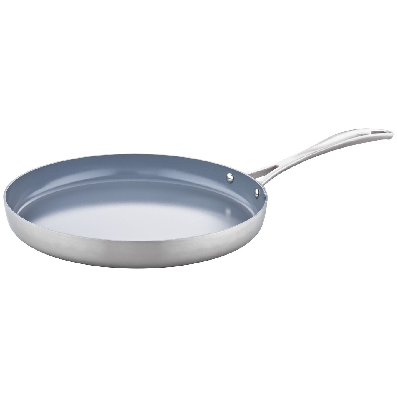 3-ply 12-inch Stainless Steel Ceramic Nonstick Griddle,,large 1