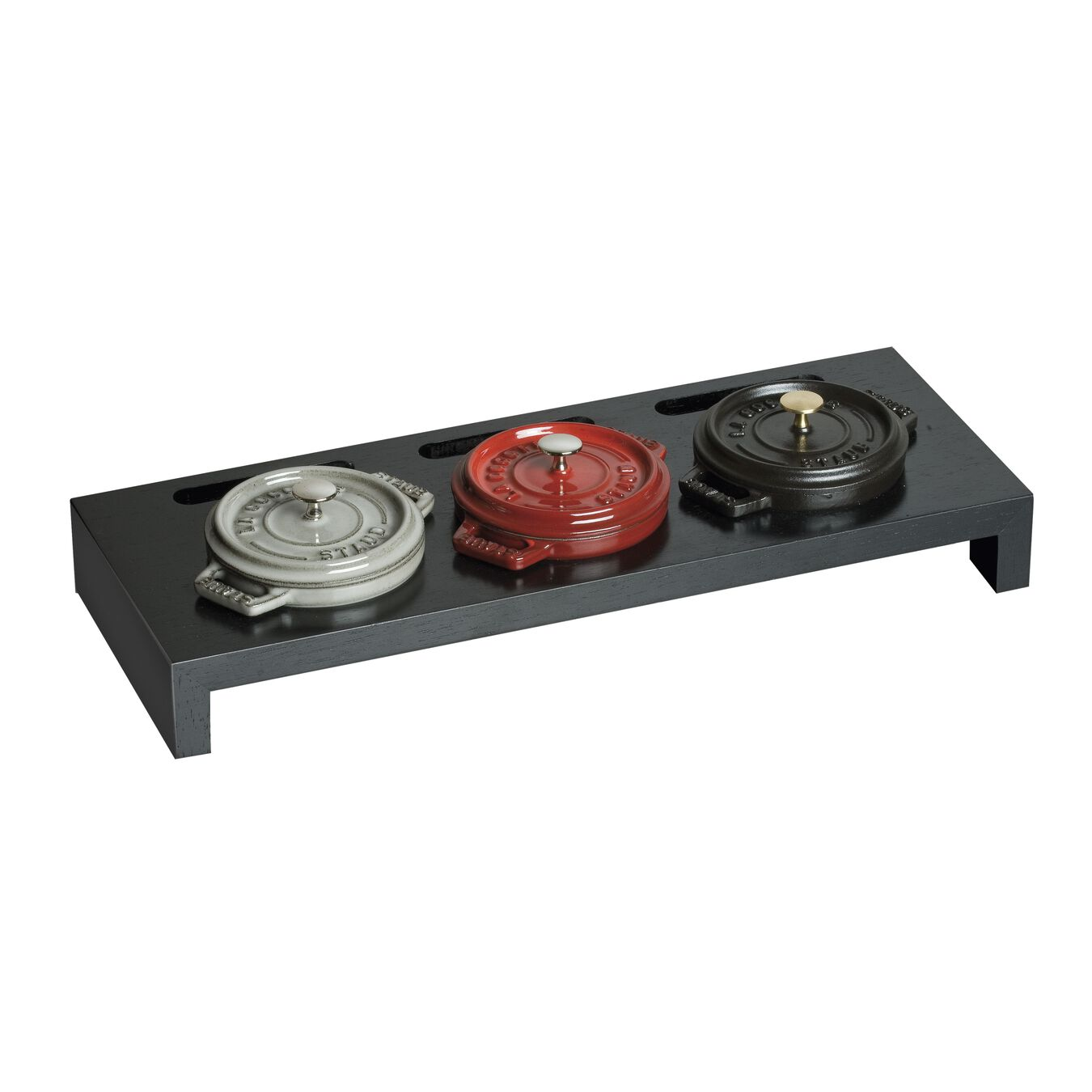 Wood Mini Cocotte Stand - Black,,large 2