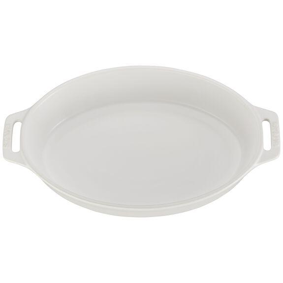 11-inch Oval Baking Dish - Matte White,,large 2