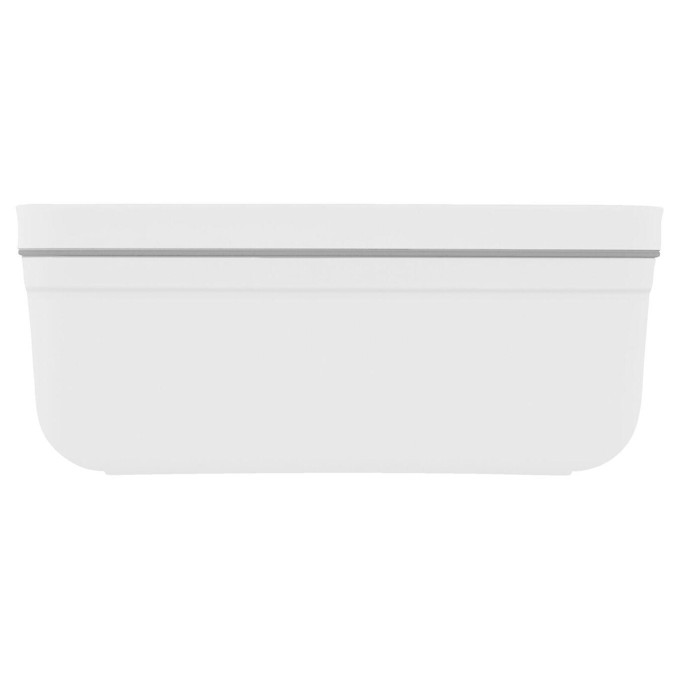 medium Vacuum lunch box, Plastic, white,,large 2
