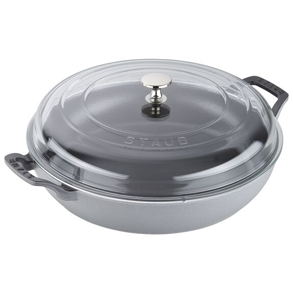 12-inch Enamel Braiser with Glass Lid	,,large
