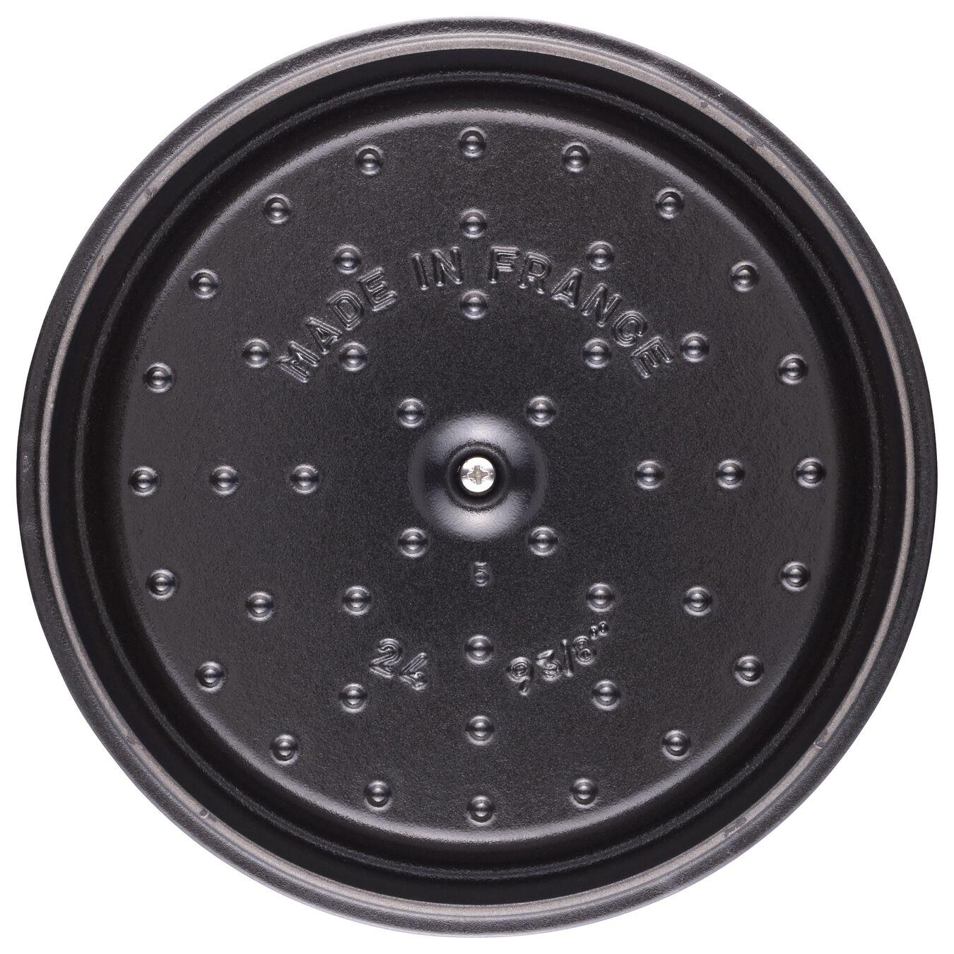 3.8 l Cast iron round Cocotte, ice-blue,,large 5