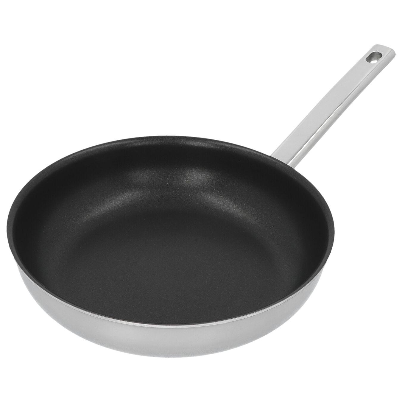 Poêle 24 cm, Inox 18/10, Noir argenté,,large 3