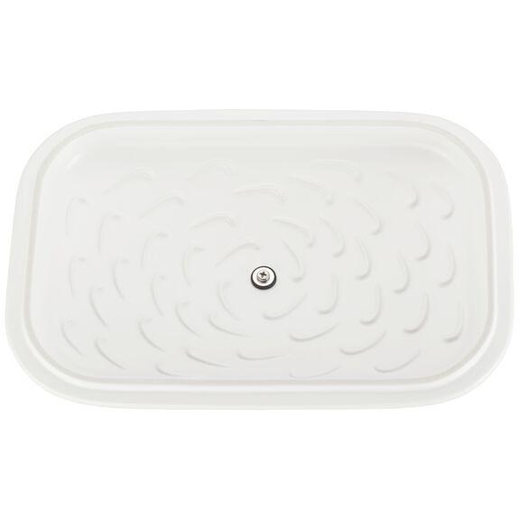 Ceramic Rectangular Covered Baking Dish, Matte White,,large 5