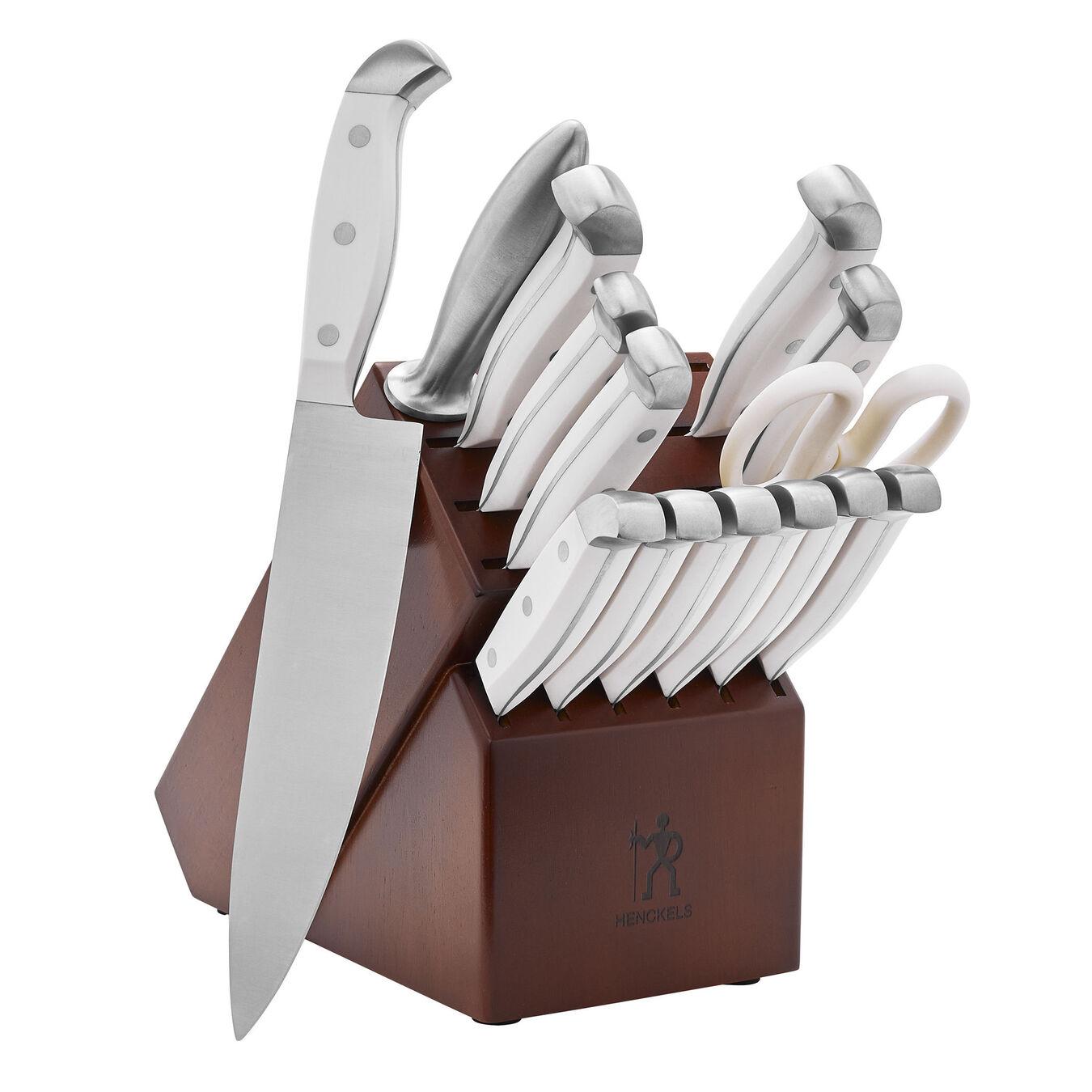 15-pc, Knife block set, white,,large 2