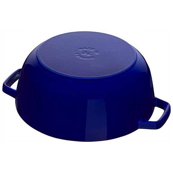 3.75-qt round French oven lily, Dark Blue,,large 4