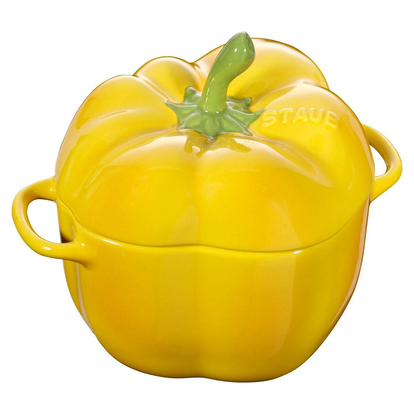 Cocotte 12 cm, Paprika, Gelb, Keramik,,large 1