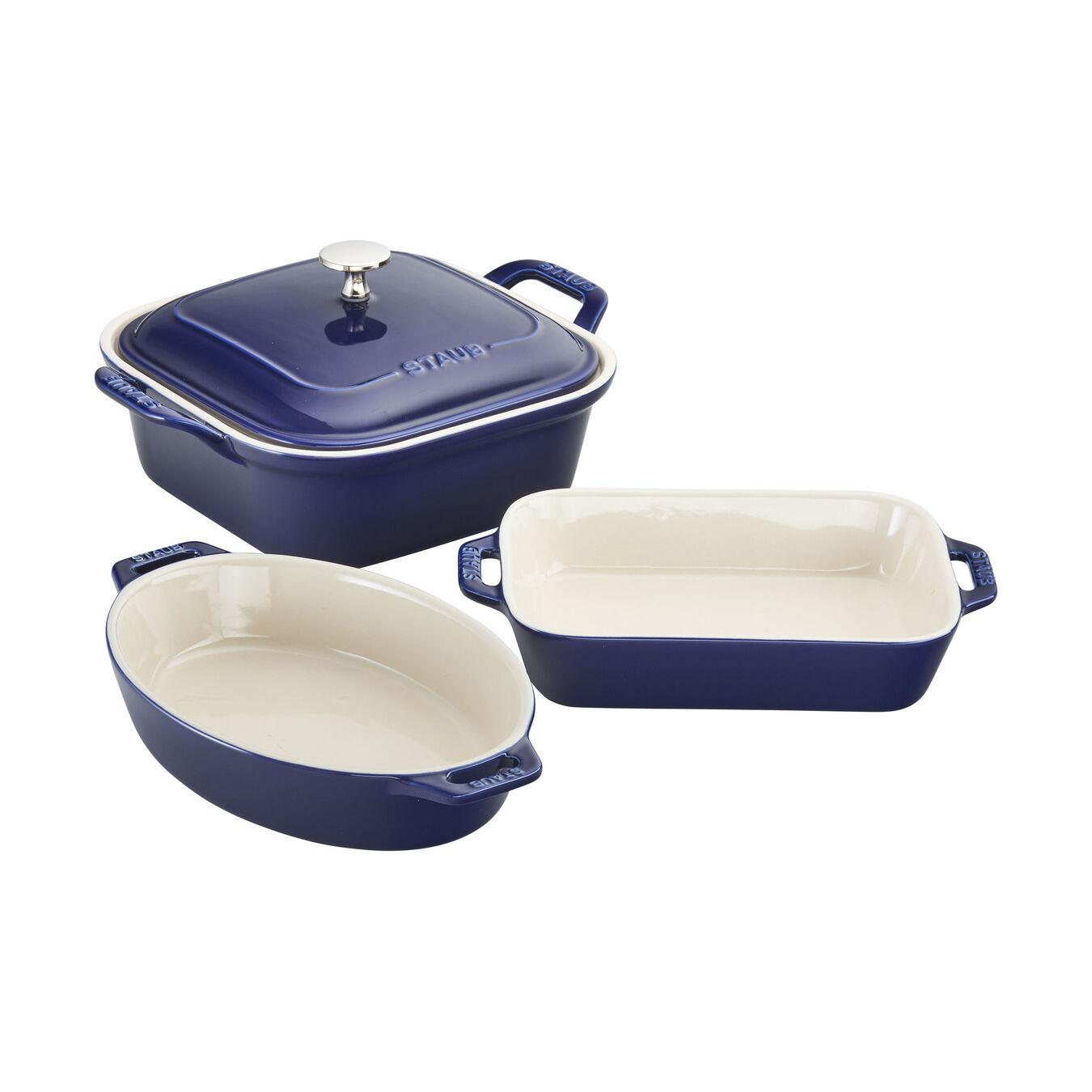 4-pc Baking Dish Set - Dark Blue,,large 1