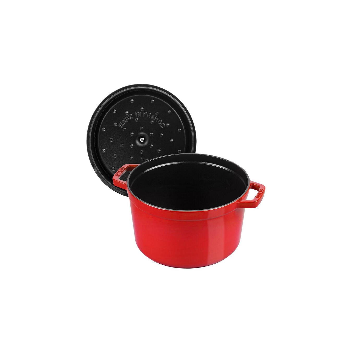 5 qt, round, Cocotte, cherry - Visual Imperfections,,large 7