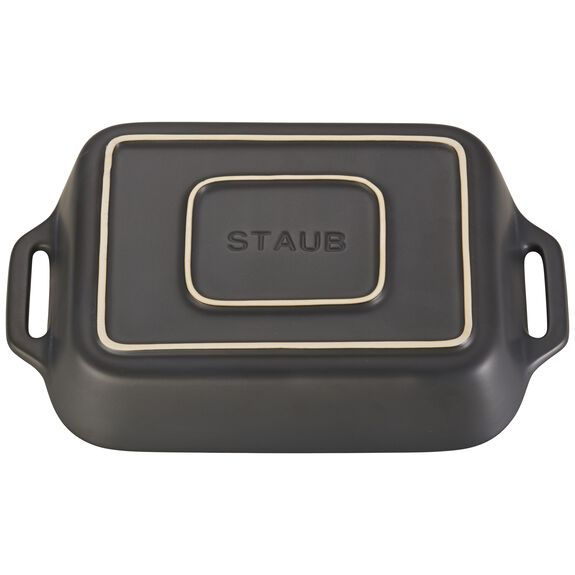 10.5-inch x 7.5-inch Rectangular Baking Dish - Matte Black,,large 2