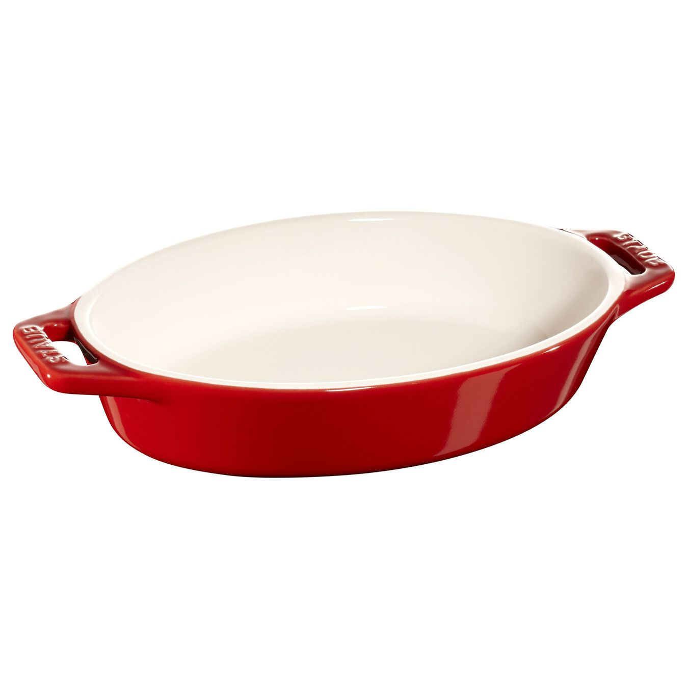 Ceramic oval Oven dish, Cherry,,large 1