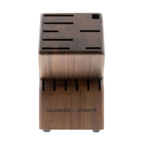 Knife block empty Walnut,,large 2
