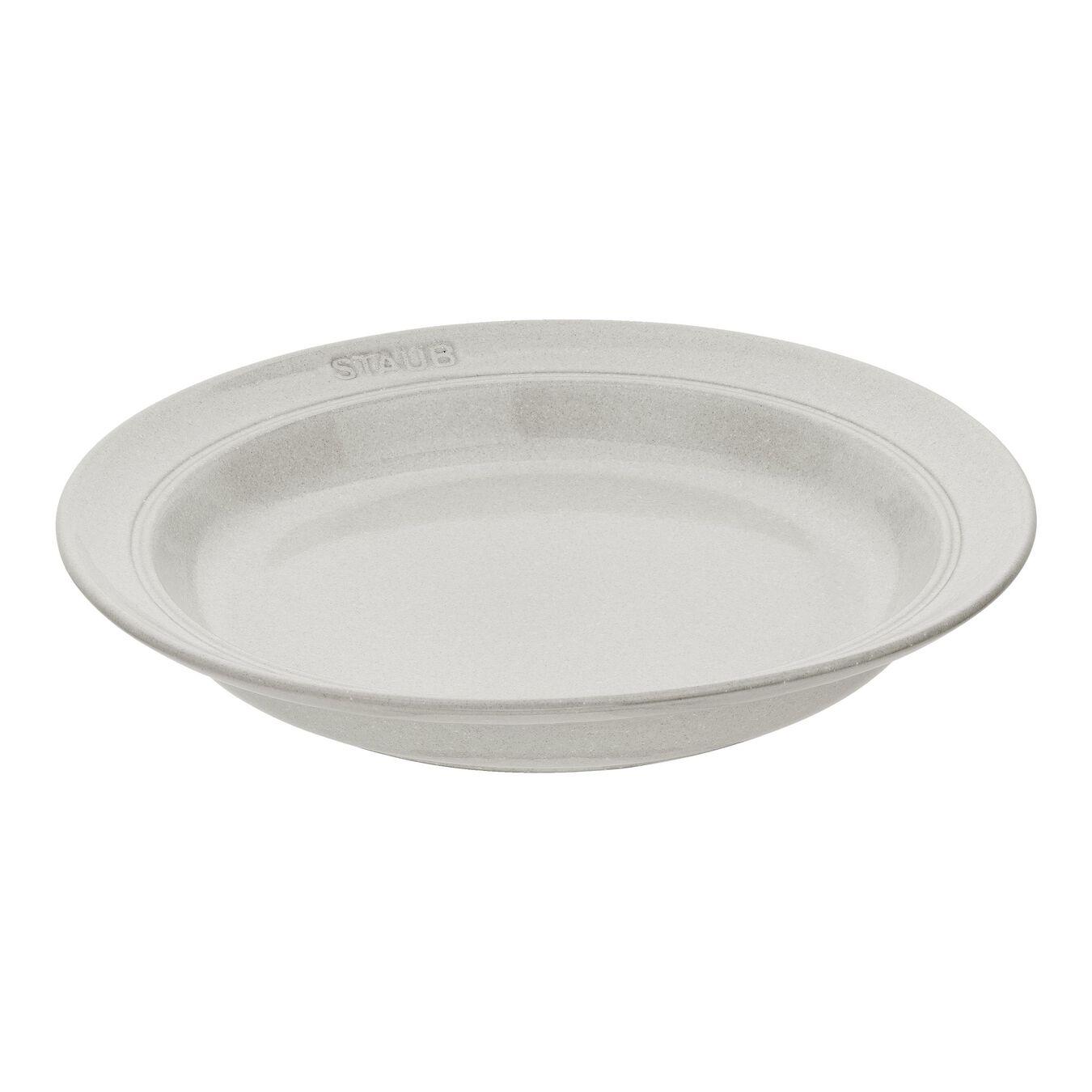 Pasta plate set, 4 Piece   white truffle   Ceramic   round   Ceramic,,large 1