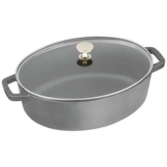 4.25-qt oval Cocotte, Graphite Grey,,large