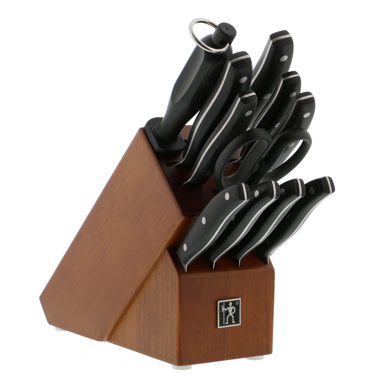 12-pc, Knife block set, black matte,,large 1