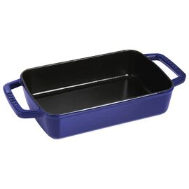 Staub Cast Iron, 12-x 7.87 inch, square, Oven dish, dark blue