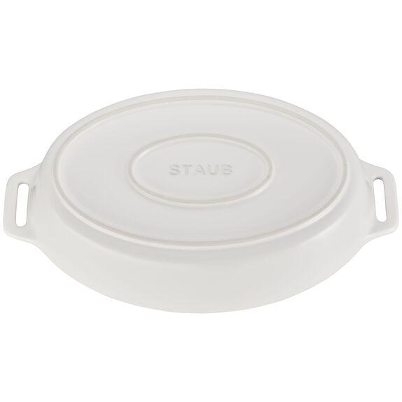 """14.5"""" Oval Baking Dish, Matte White, , large 3"""