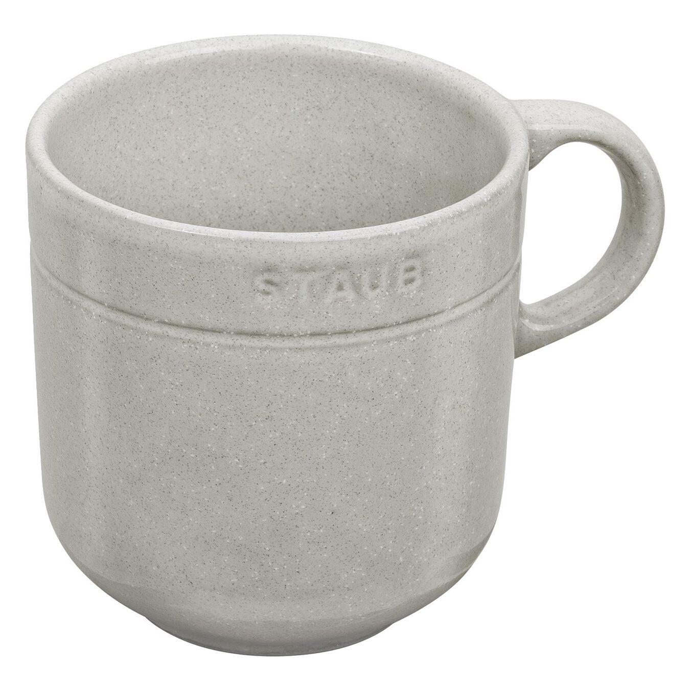 Ceramic round Mug, white truffle,,large 1