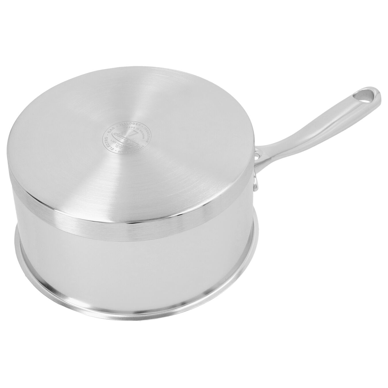1.5 l round Sauce pan with lid, silver,,large 4