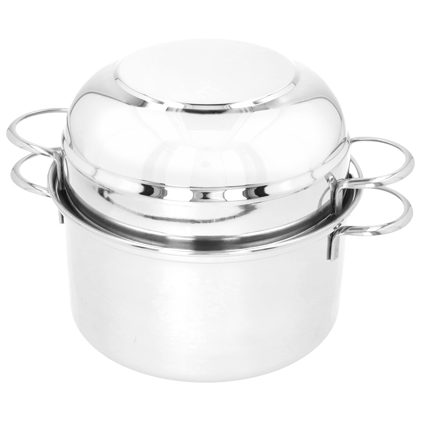 101.5-oz, 18/10 Stainless Steel, Mussel pot, silver,,large 4