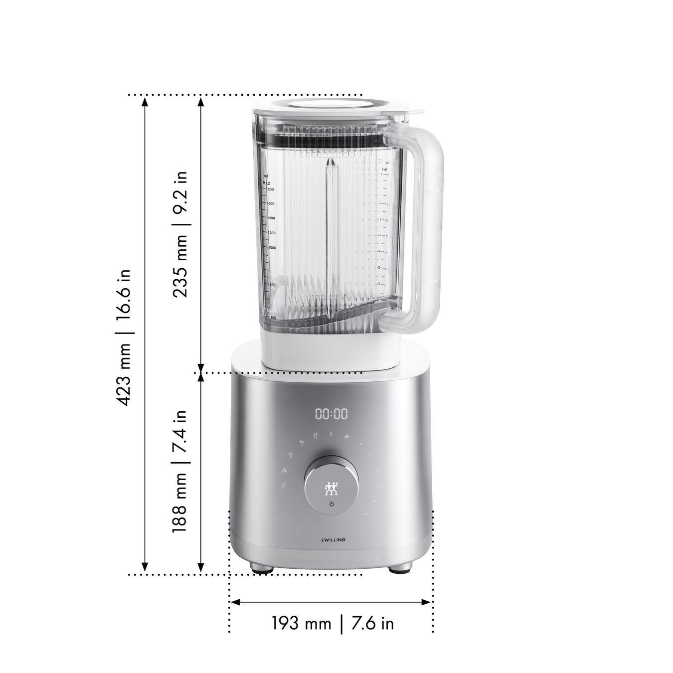 Frullatore ad alte prestazioni - AC Motor, argento,,large 11