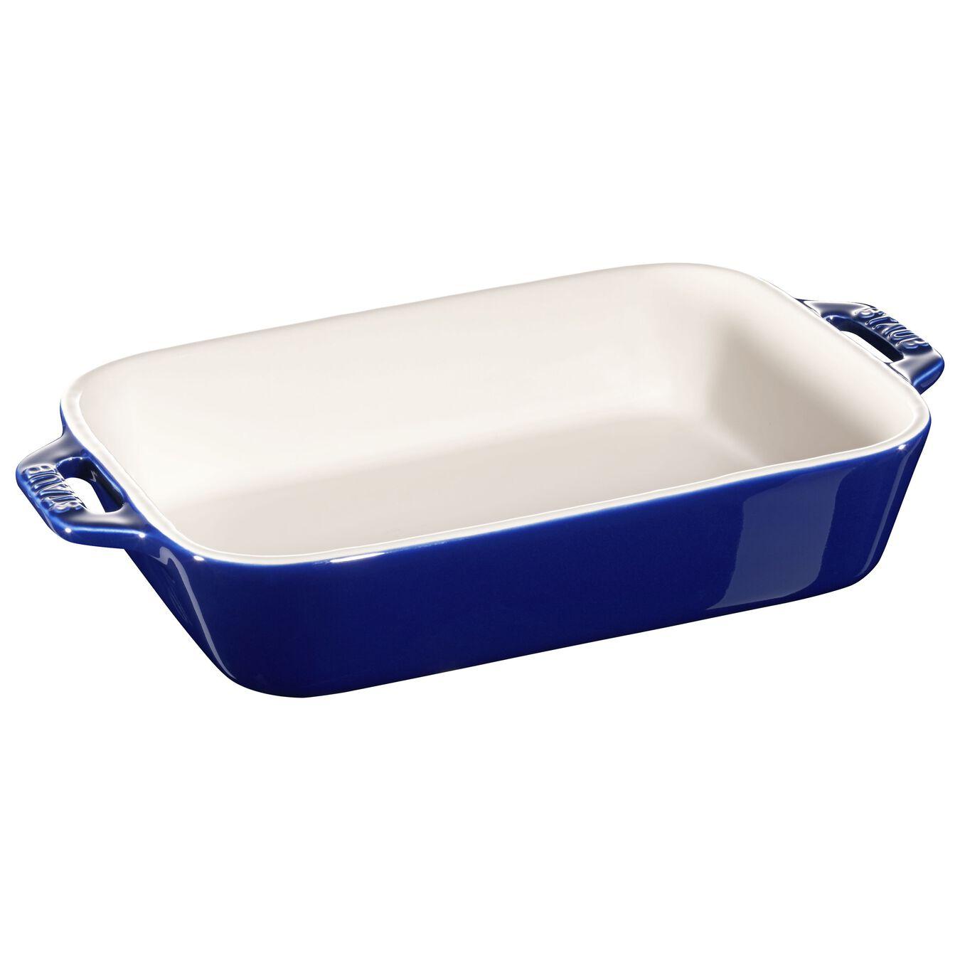 2-pcs rectangular Ensemble plats de cuisson pour le four, Dark-Blue,,large 3