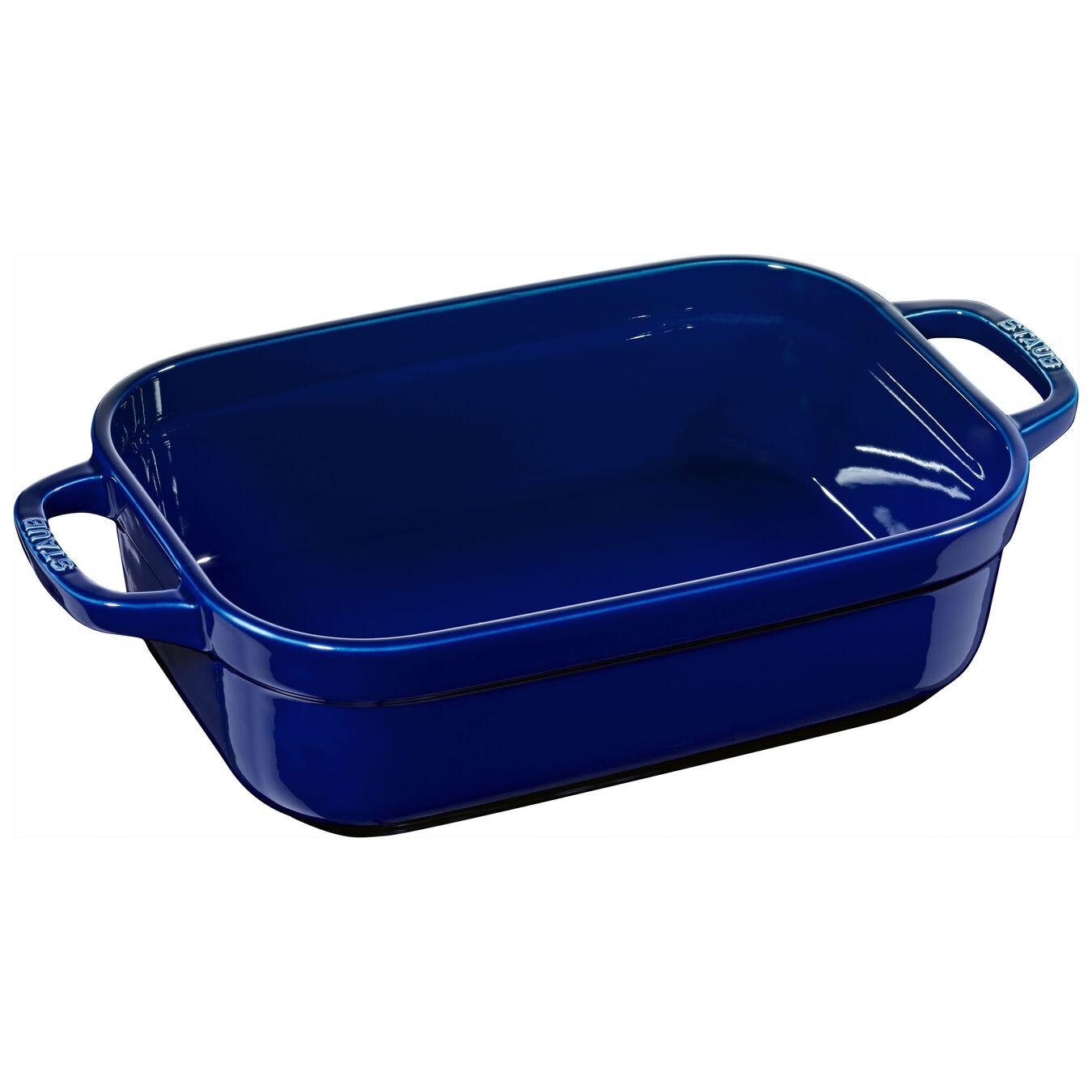 rectangular, Oven dish, dark blue,,large 1