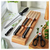 7-pc, Block Set with Beechwood In-Drawer Knife Tray, natural,,large