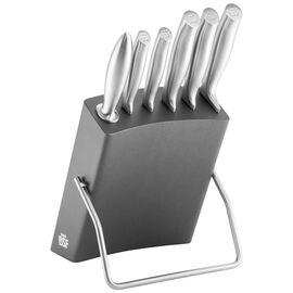 BSF Chicago, Set di coltelli con ceppo - 7-pz., grigio