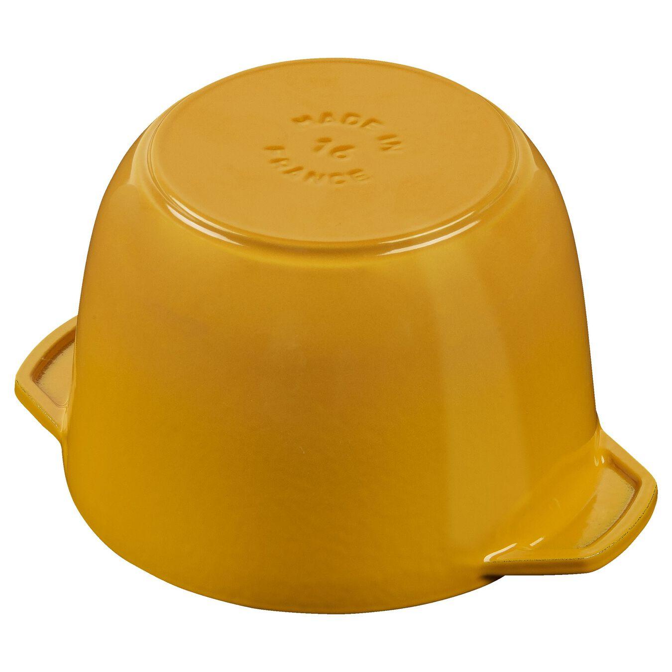 1.5-qt round Cast iron Rice Cocotte, Saffron,,large 4