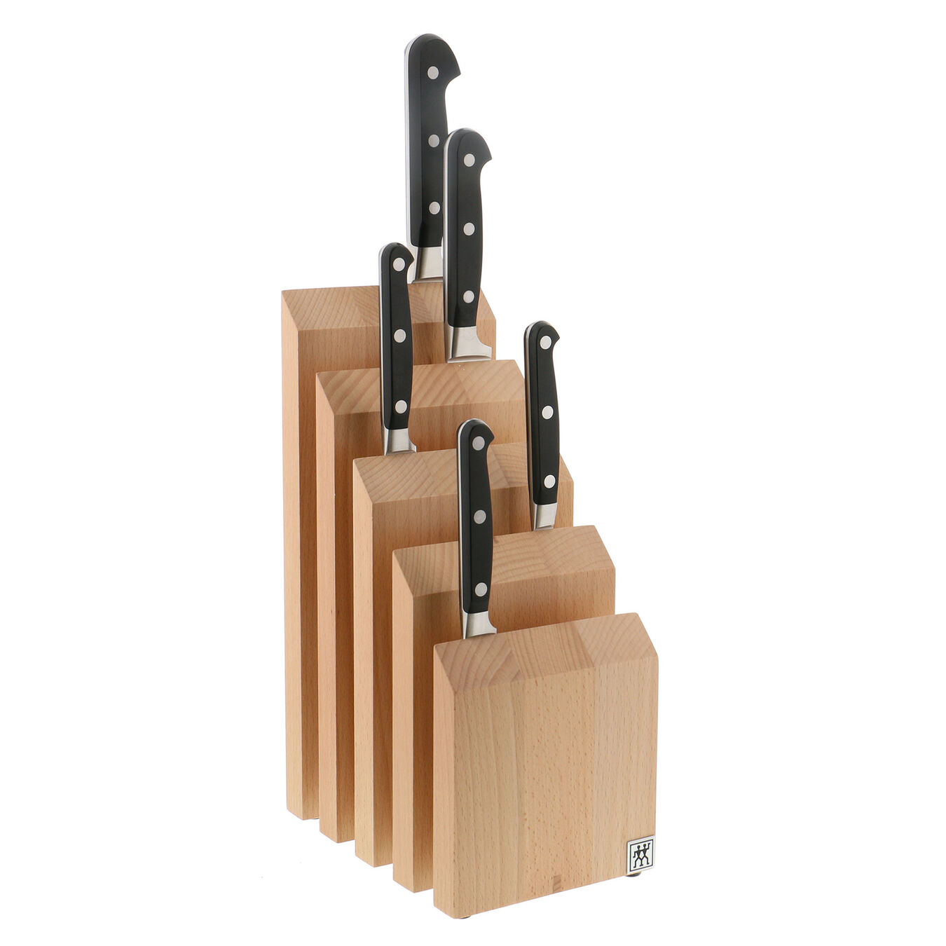 Upright Magnetic Knife Block - Natural Beechwood,,large 2