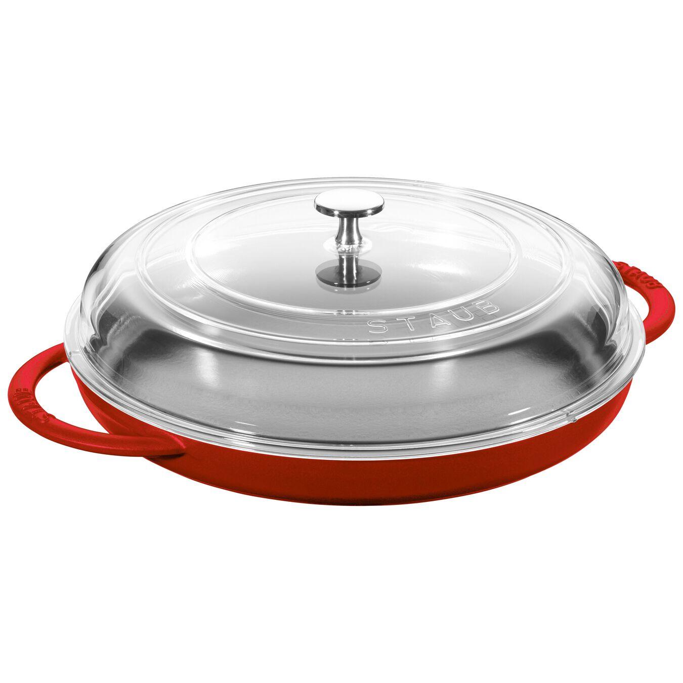 12-inch Round Steam Griddle - Cherry,,large 1