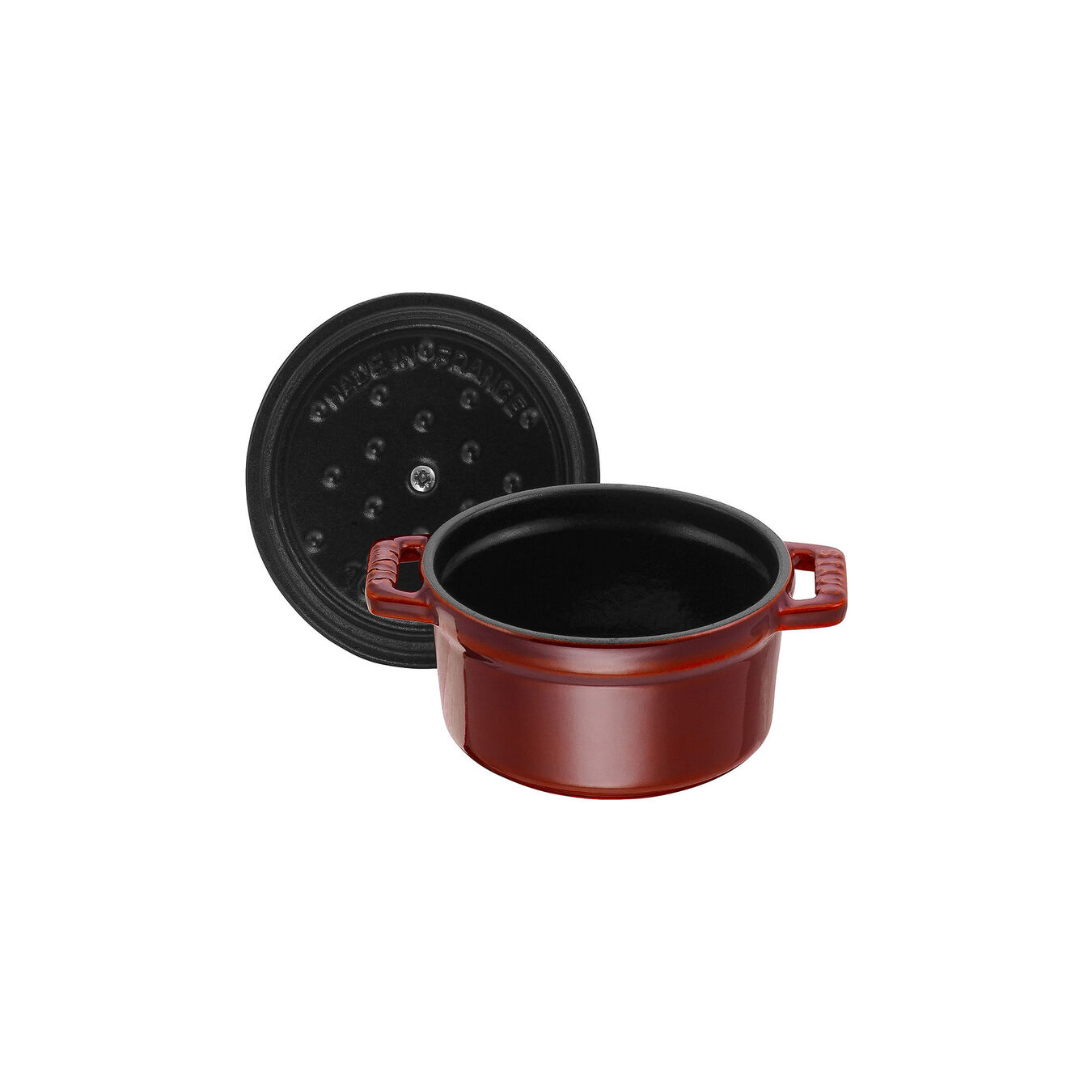 250 ml Cast iron round Mini Cocotte, Grenadine-Red,,large 5