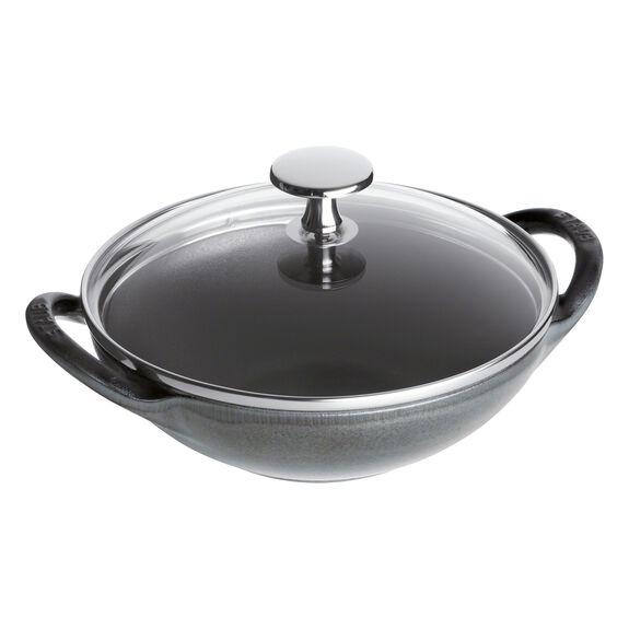 6.5-inch Enamel Wok, Graphite Grey,,large