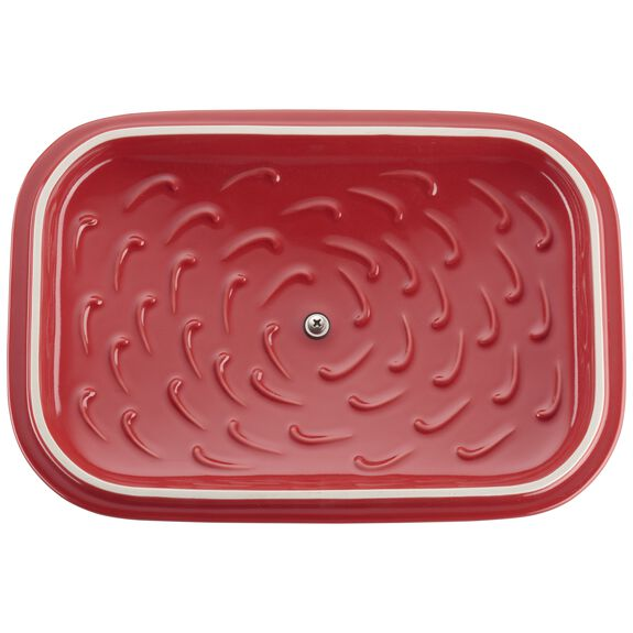 12-inch x 8-inch Rectangular Covered Baking Dish - Cherry,,large 3