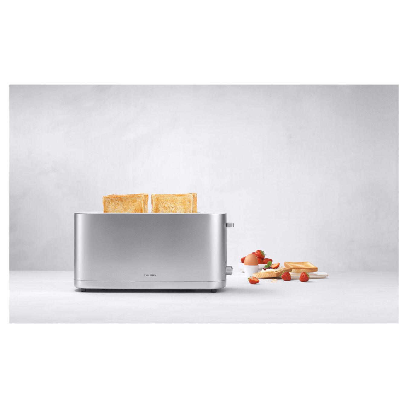 Grille pain Grille permettant de réchauffer des petits-pains, 2 long slots, Argent,,large 3