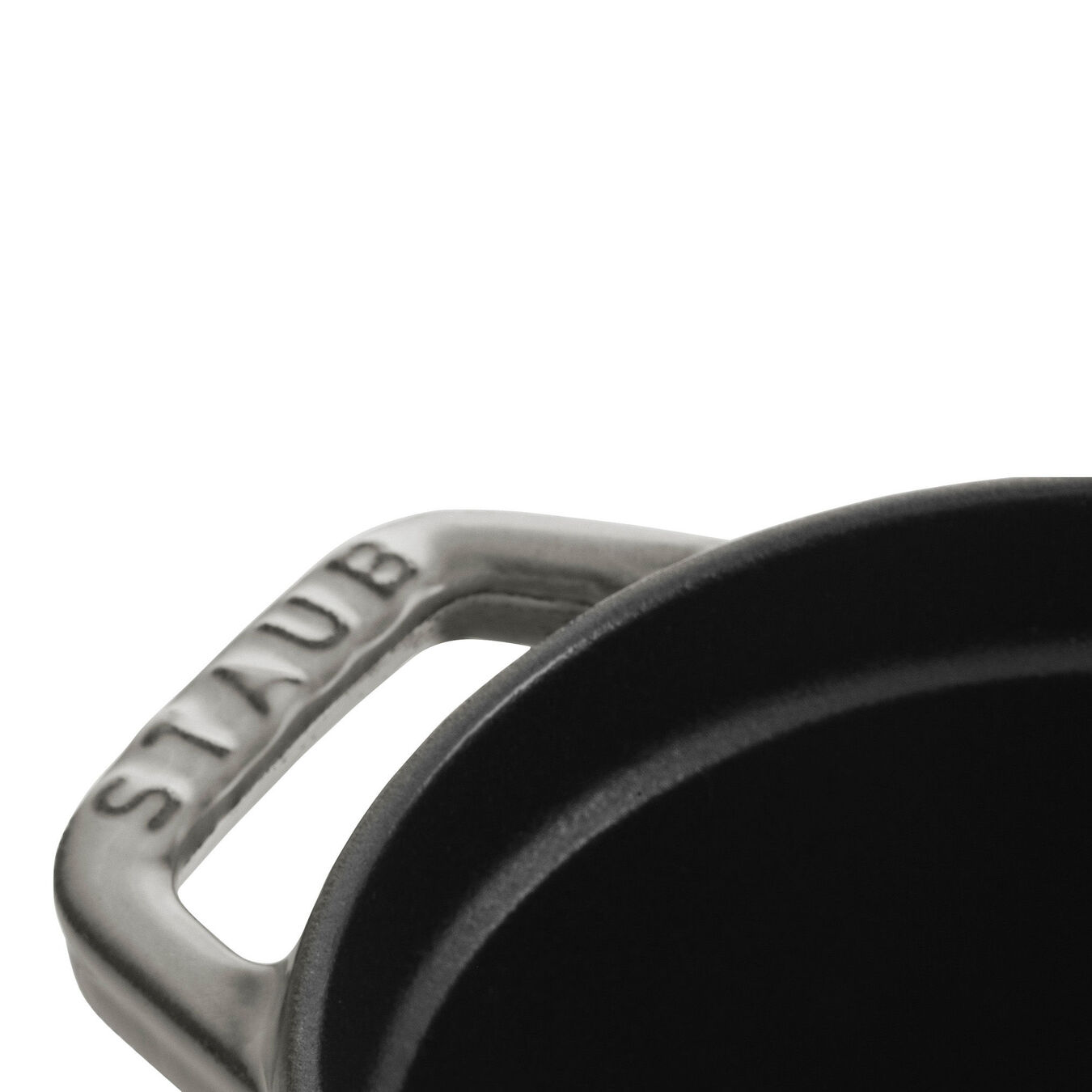 Caçarola 17 cm, oval, Cinza grafite, Ferro fundido,,large 4