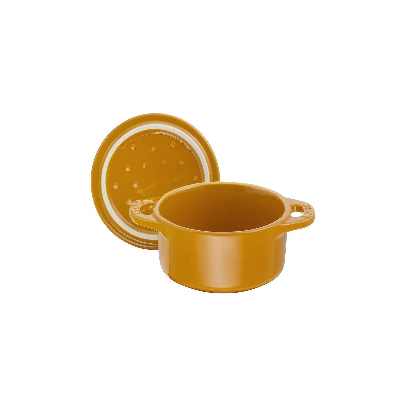 Mini Cocotte 10 cm, Rond(e), Moutarde, Céramique,,large 6